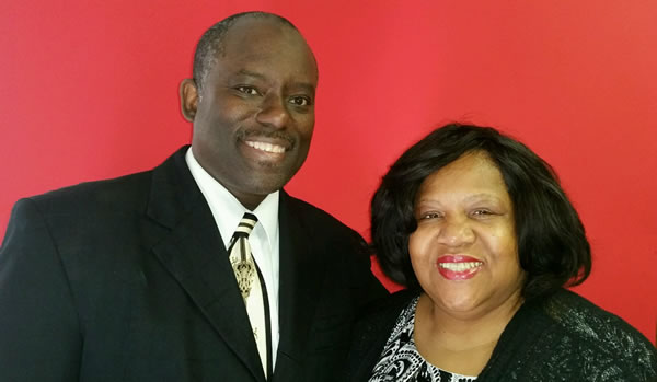 Gary and Denise, pastors at Promised Land Worship Center