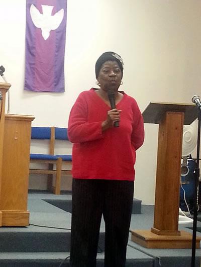 Sister Alexia gives her testimony.